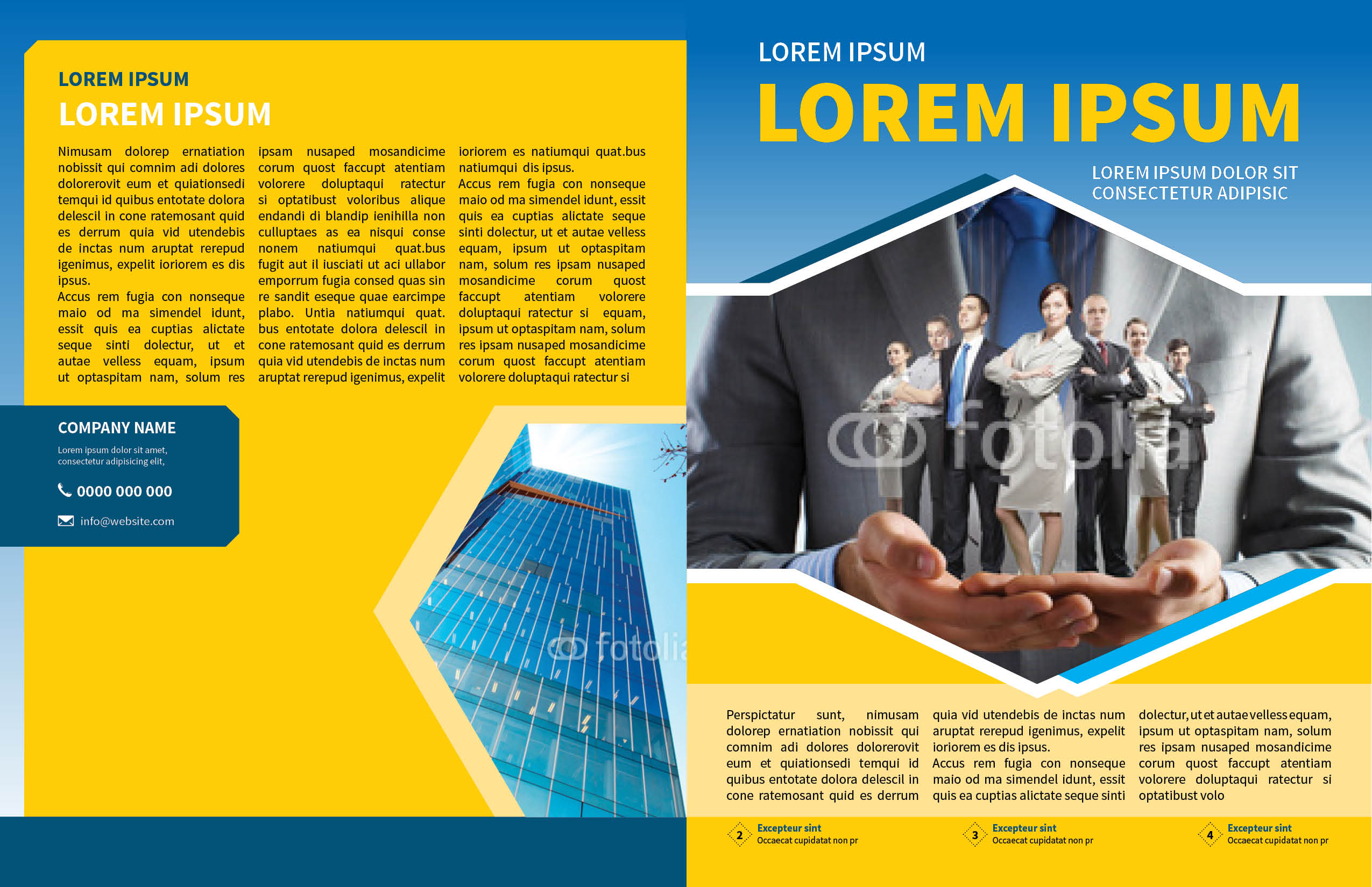 Corporate Business Newsletter Template – Corporate Newsletter Template