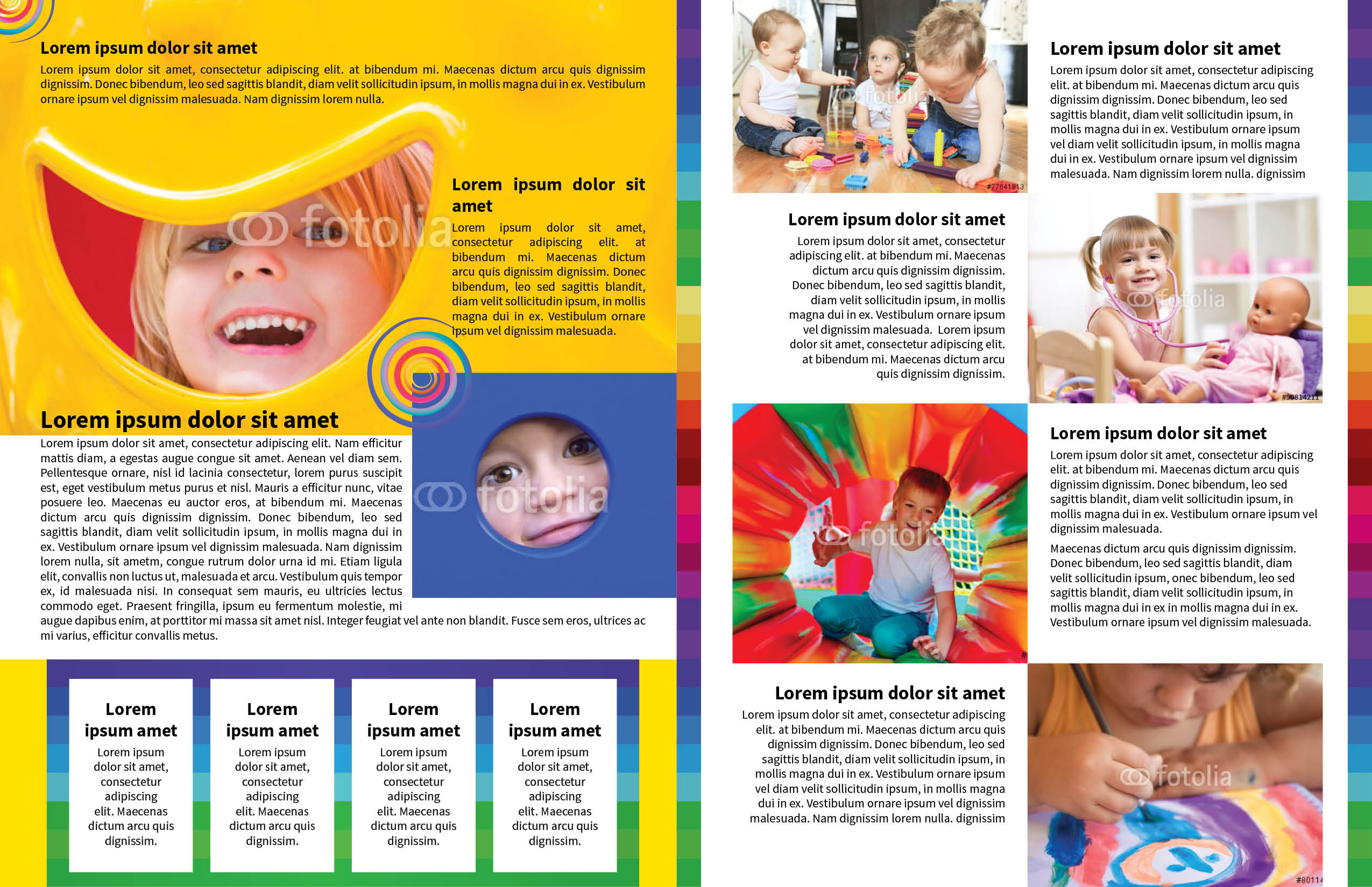 Child Day-Care Newsletter Template | MyInDesign
