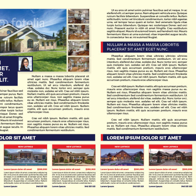 Real Estate Newsletter Template | Myindesign