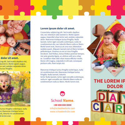 Child DayCare Brochure Template  Myindesign