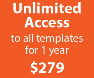 Unlimited access to all our templates for one full year: only $279