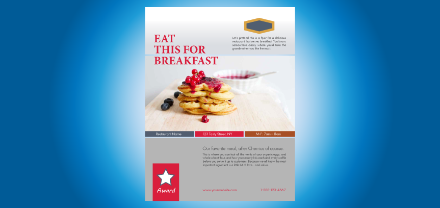 Restaurant Flyer Template: Eat This